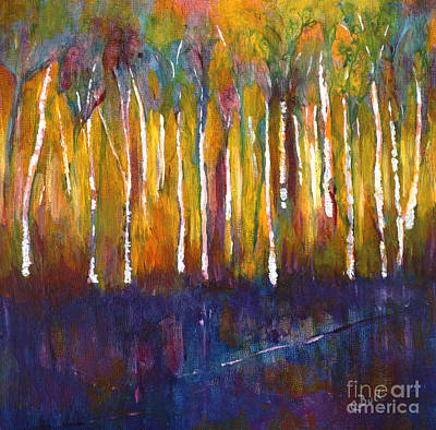 Original featuring the painting Oak Bay Woods by Claire Bull