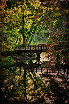 Photograph - Oak Bridge In Fall by Chris Lord