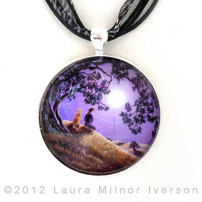 Dog Jewelry Jewelry - Oak Tree Meditation Pendant by Laura Iverson