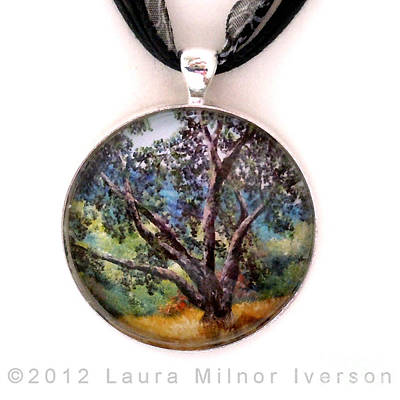 Jewelry - Oak Tree Pendant by Laura Iverson