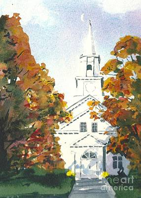 Painting - Oakdale United Methodist Church by Lynn Babineau