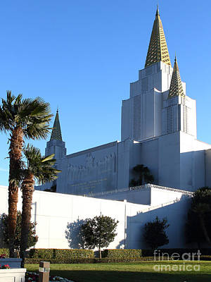 Oakland California Temple . The Church Of Jesus Christ Of Latter-day Saints . 7d11329 Art Print by Wingsdomain Art and Photography
