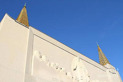 Oakland California Temple . The Church Of Jesus Christ Of Latter-day Saints . 7d11347 Art Print by Wingsdomain Art and Photography