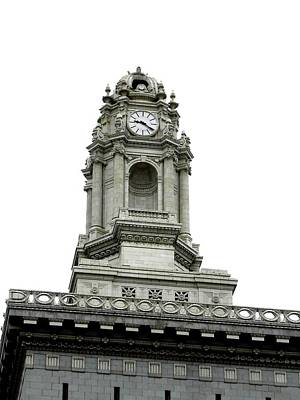 Photograph - Oakland City Hall Clock Tower by Kelly Manning