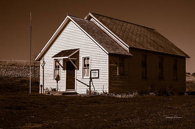 Photograph - Oaks School 1870 by Edward Peterson