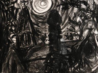 Drawing - Oakwood Church Rear by Christophe Ennis