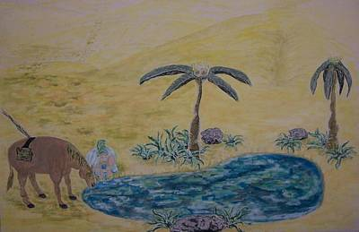 Oasis In The Desert Of My Mind Art Print by Timothy  Foley