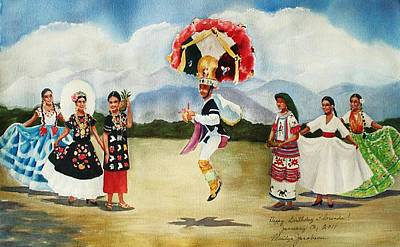 Painting - Oaxaca Dancers by Marilyn Jacobson