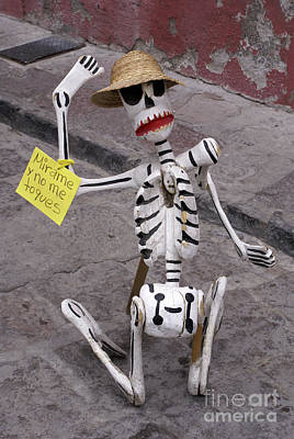 Photograph - Oaxaca Skeleton Mexico by John  Mitchell