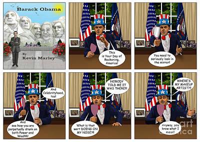 Obama 2012 Digital Art - Obama As Uncle Sam II by Kevin  Marley