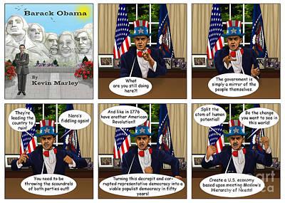 Obama 2012 Digital Art - Obama As Uncle Sam IIi by Kevin  Marley