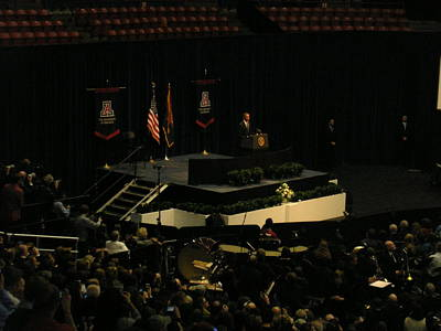 Mchale Center Photograph - Obama At Mchale Center by Jayne Kerr