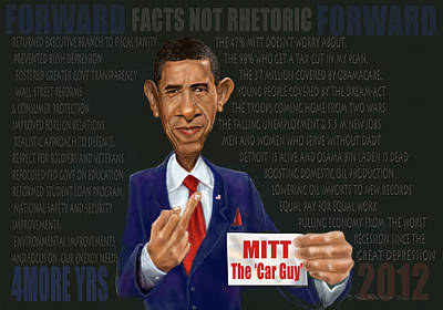 Obama 2012 Digital Art - Obama Facts by Fred Makubuya