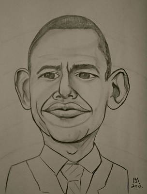 Obama Drawing - Obama by Pete Maier