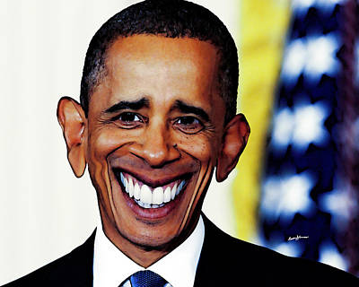 Elections Digital Art - Obamacaricature by Anthony Caruso