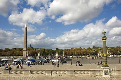 Obelisque Place De La Concorde. Paris. France Art Print by Bernard Jaubert