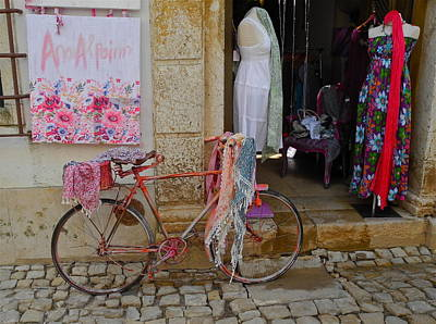 Photograph - Obidos Portugal Street Scene by Kirsten Giving
