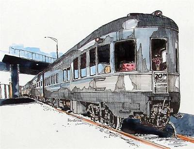 Art Print featuring the painting Observation Car by Terry Banderas