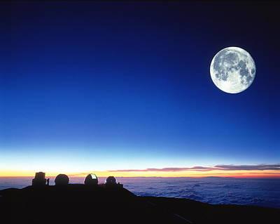 Keck Telescope Photograph - Observatories At Mauna Kea, Hawaii by David Nunuk
