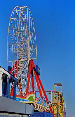 Oc Winter Ferris Wheel Art Print