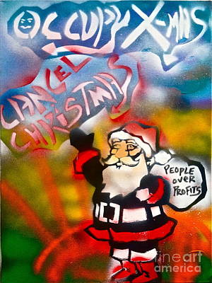 Liberal Painting - Occupy Christmas by Tony B Conscious