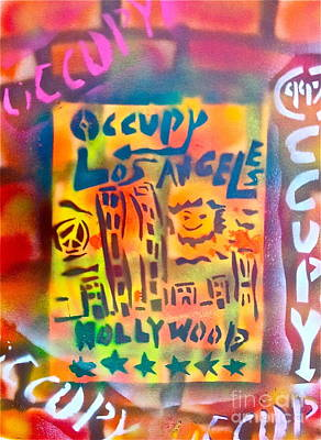 Liberal Painting - Occupy Hollywood by Tony B Conscious