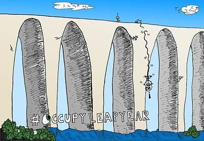 Occupy Leap Year Cartoon Original by Yasha Harari