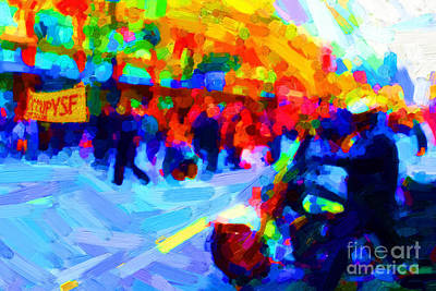 Occupy Sf In Abstract Art Print by Wingsdomain Art and Photography