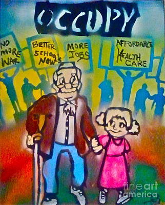 Free Speech Painting - Occupy The Young And Old by Tony B Conscious