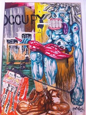 Occupy Painting - Occupy Wall-street by BaBa Nochi