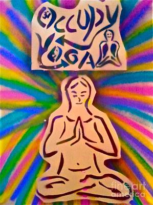 Occupy Yoga Art Print by Tony B Conscious