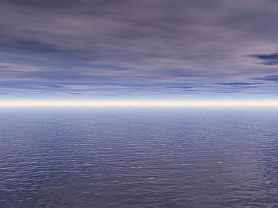 Vern Photograph - Ocean And Clouds by Paul Sale Vern Hoffman
