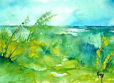 Ocean And Shore Art Print