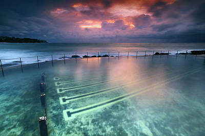Clouds Over Sea Photograph - Ocean Baths by Yury Prokopenko
