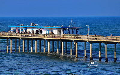 Pacific Painting - Ocean Beach Pier Cafe by Russ Harris