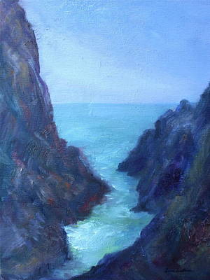 Painting - Ocean Chasm by Quin Sweetman