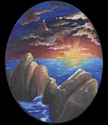 Diane Peters Painting - Ocean Circle by Diane Peters