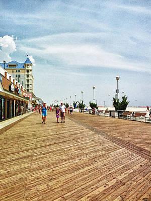 Ocean City Boardwalk Art Print by Kelly Reber