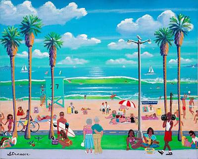 Venice Beach Painting - Ocean Front Walk by Frank Strasser
