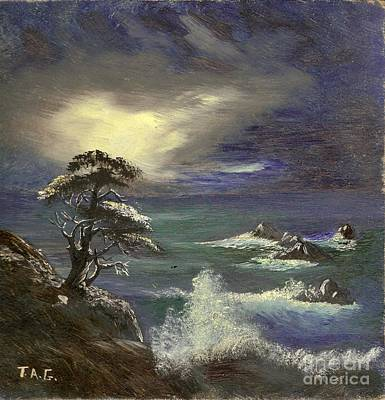 Painting - Ocean Nightfall by Jessi and James Gault