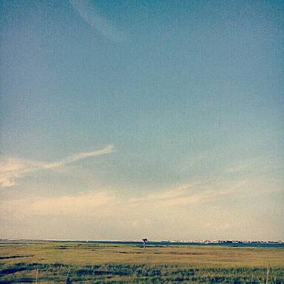 Marsh Photograph - #ocean #oceancity #nj #marsh #minimal by Amanda Schoonover