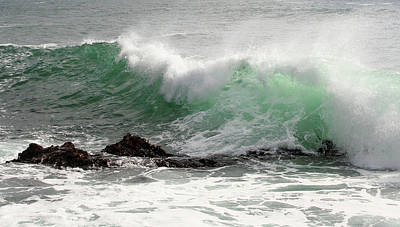 Print featuring the photograph Ocean Spray by Michael Rock