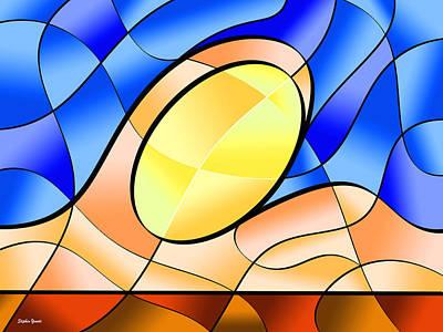 Bethany Beach Wall Art - Digital Art - Ocean Sun by Stephen Younts