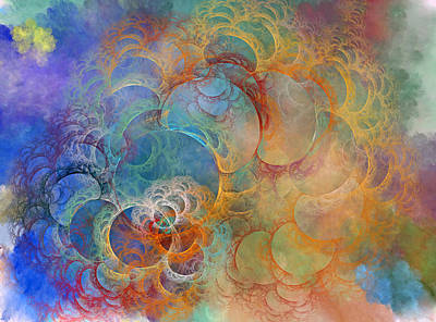 Repeating Digital Art - Ocean Sunrise by Betsy Knapp