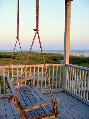 Art Print featuring the photograph Ocean View At Oak Island Nc by Kelly Nowak