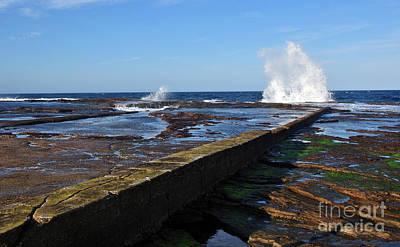 Ledge Photograph - Ocean View by Kaye Menner