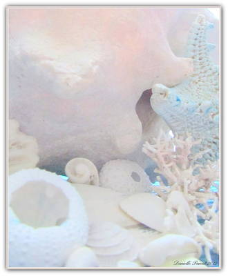 Ocean Wisper In Cotton Candy Color Art Print by Danielle  Parent