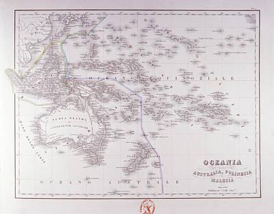 Victorian Digital Art - Oceania (australia, Polynesia, And Malaysia) by Fototeca Storica Nazionale