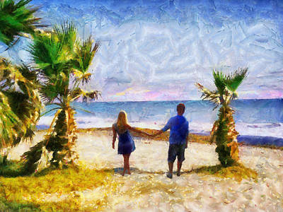 Painting - Oceans Edge by Jai Johnson