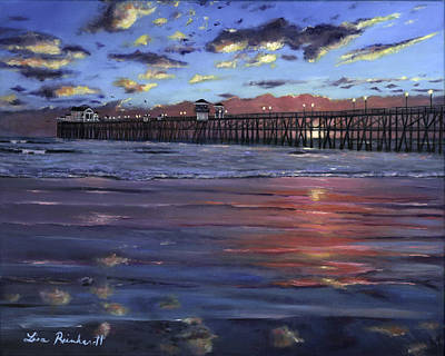 Oceanside Pier Art Print by Lisa Reinhardt